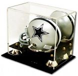 MINI HELMET DISPLAY CASE Grandstand Plinth with Mirror Back